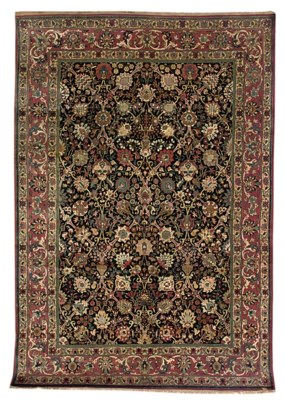 A fine part silk Teheran carpe