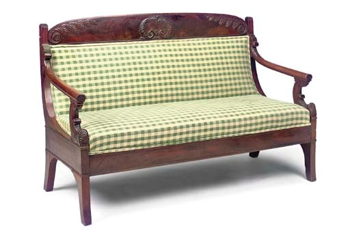 A FRENCH EMPIRE MAHOGANY SOFA