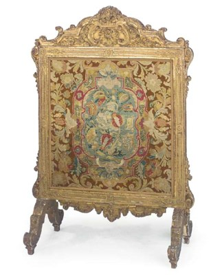 A FRENCH CARVED GILTWOOD FIRES