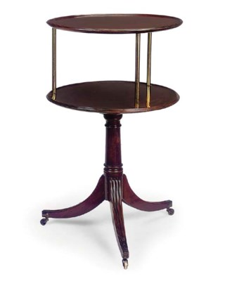 A REGENCY MAHOGANY TWO TIER DU