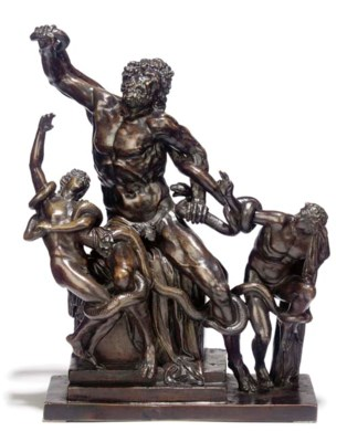 A BRONZE GROUP OF LAOCOON