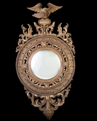 A PAIR OF CARVED GILTWOOD CONV