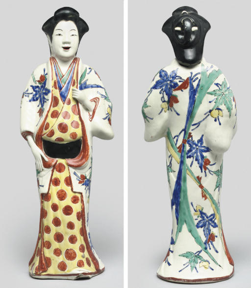 A Kakiemon figure of a standing Bijin, Late 17th Century
