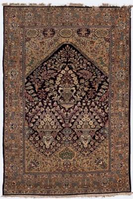 A fine Qum prayer rug
