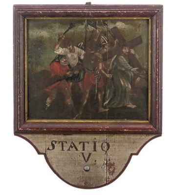 AN ITALIAN PAINTED SCENE FROM