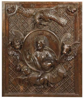 A CONTINENTAL CARVED WOOD PANE