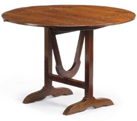 A FRENCH CHESTNUT FOLDING TABL
