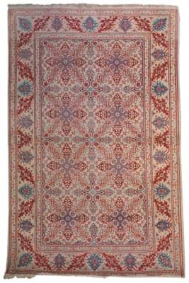 A very unusual fine Kashan rug