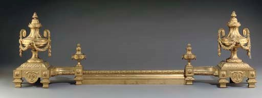 A FRENCH GILT BRONZE ADJUSTABL