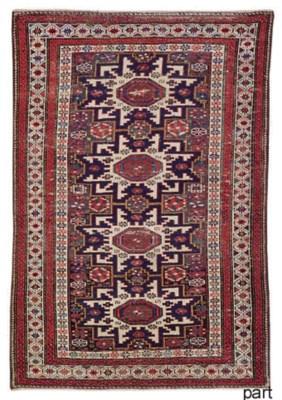 An antique Lesghi rug and Soum