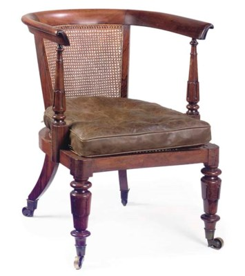 A REGENCY ROSEWOOD AND CANED L