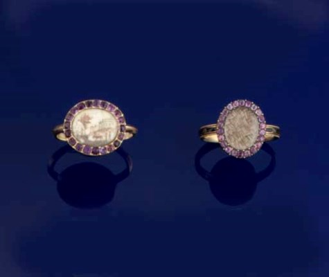 TWO LATE 18TH CENTURY RINGS