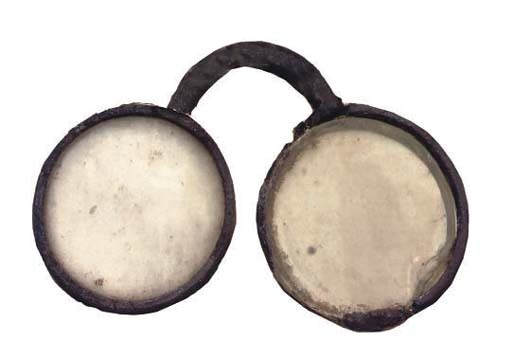 A pair of rare English leather