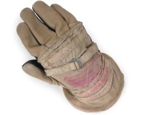 the right space glove from a pressurised space suit worn by