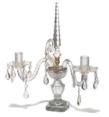 A LATE GEORGE III CUT-GLASS CA