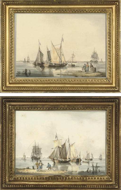 The fishing fleet drying their sails; and The fishing fleet unloading their catch