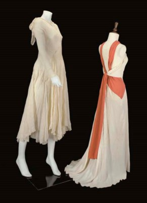 A GROUP OF EVENING GOWNS, 1930