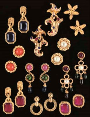 CHANEL: TEN PAIRS OF EARRINGS