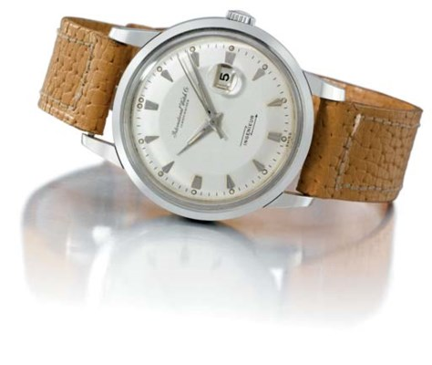 IWC. A fine and rare stainless