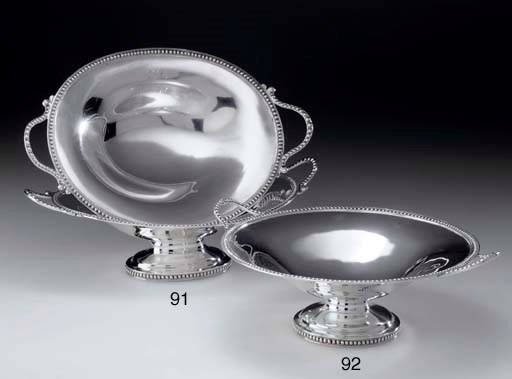 A PAIR OF SILVER BASKETS