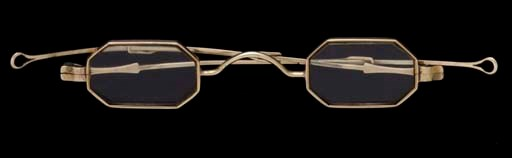 A PAIR OF GOLD SPECTACLES**