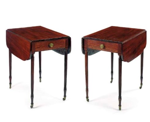 A PAIR OF FEDERAL MAHOGANY PEM