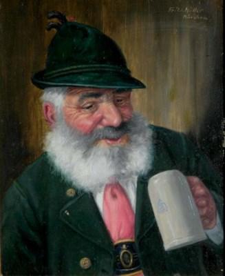 Fritz m ller german b 1879 figure with a beerstein - Gartenmobel fritz muller ...