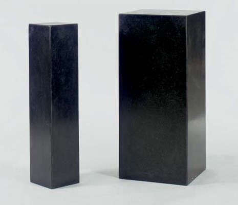 A GROUP OF FIVE BLACK MARBLE B