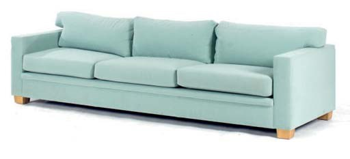 A CONTEMPORARY TEAL UPHOLSTERE