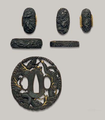 A Set of Shibuichi Tsuba and T