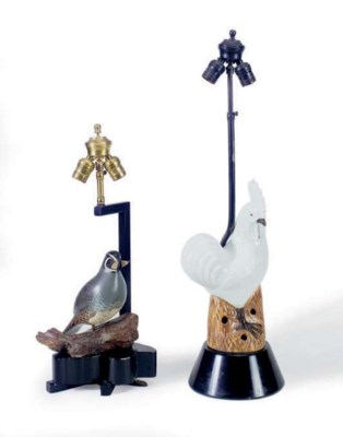 A 'ROOSTER' TABLE LAMP AND A '