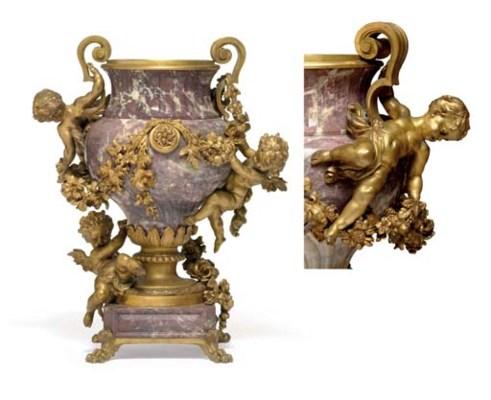 A French ormolu-mounted fleur