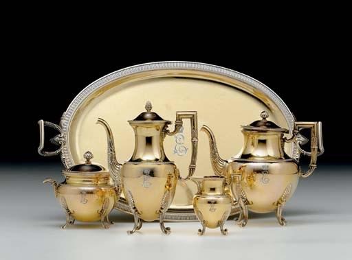 A Silver-Gilt Tea and Coffee S
