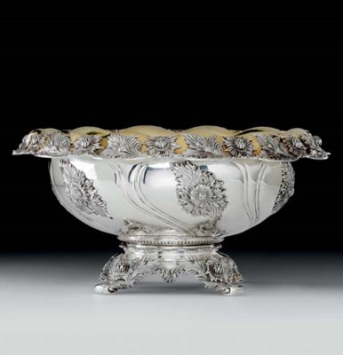 AN AMERICAN PARCEL-GILT SILVER