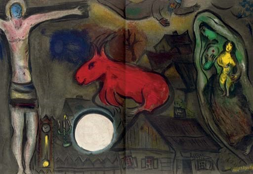 Marc chagall derri re le miroir four issues paris for Derriere le miroir