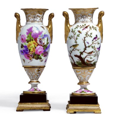 A PAIR OF PARIS VASES