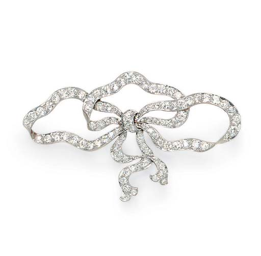 A BELLE EPOQUE DIAMOND BROOCH, BY BAILEY, BANKS & BIDDLE