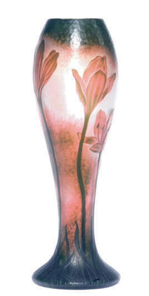 A FRENCH CAMEO GLASS VASE,