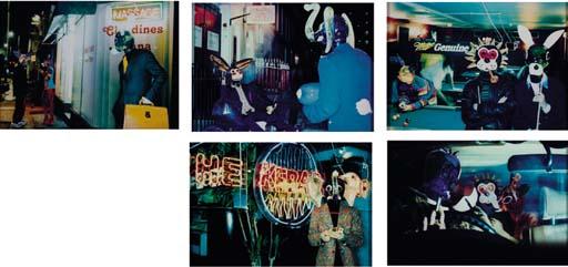 Massage, Clochard, Pool, Kebab and Car, 1998