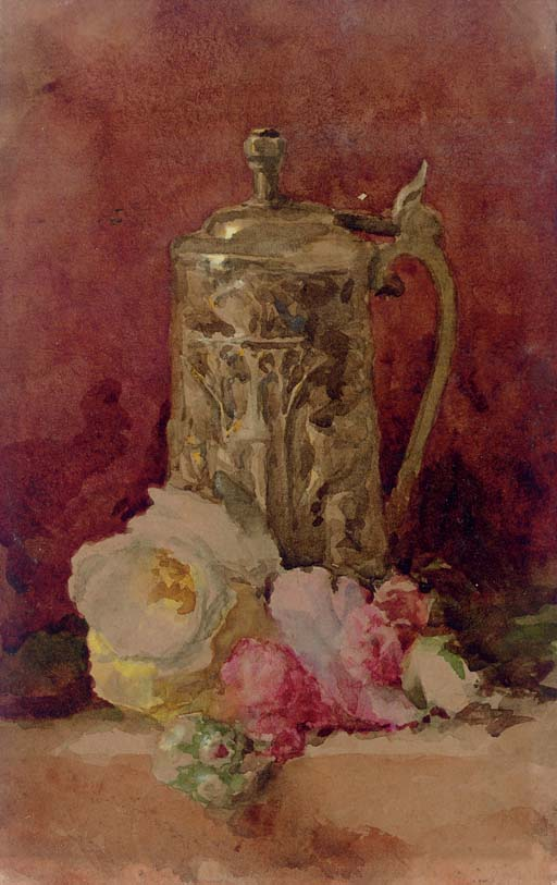 Still Life with Flagon and Roses