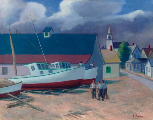 Boat Yard, Winter Harbor, Maine