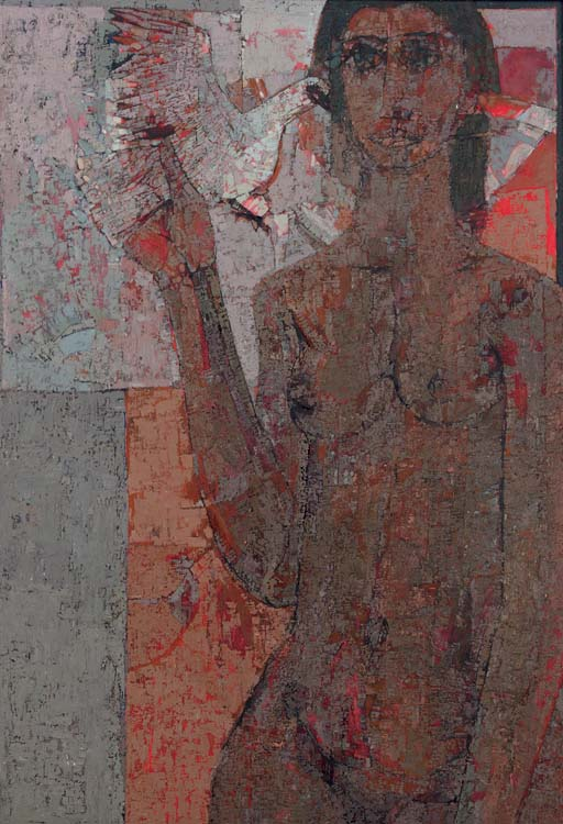 Untitled (Woman with dove)