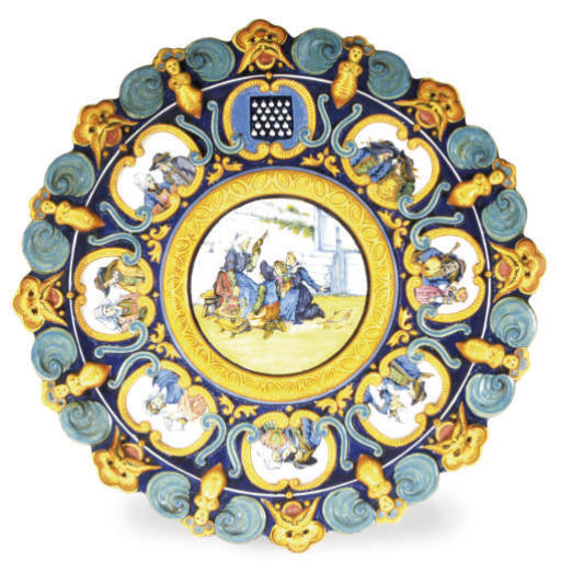 A FRENCH RENAISSANCE REVIVAL STYLE MAJOLICA CHARGER,
