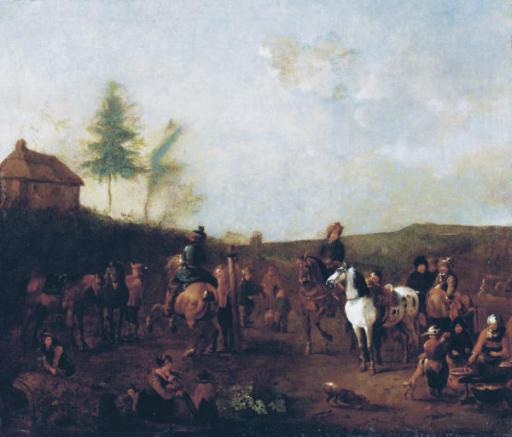 Cossacks schooling horses