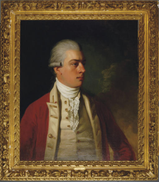 Portrait of Colonel Everitt, half length, wearing a red coat