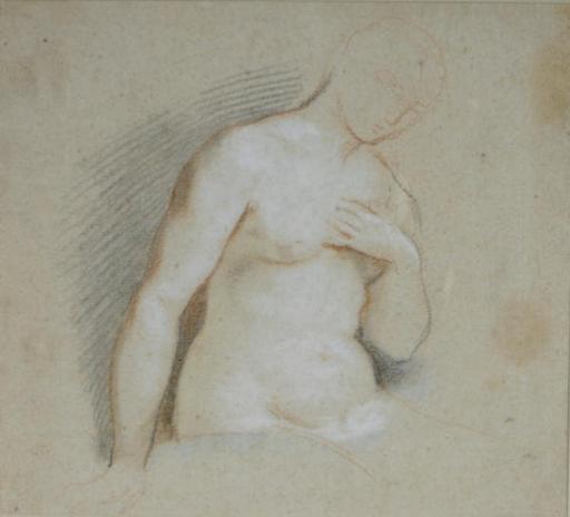 Study of a female nude, half-length