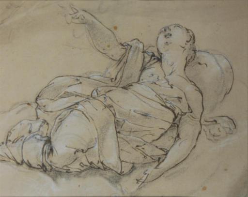 A recumbent female nude