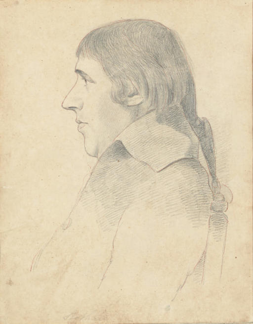 Portrait of a man in profile, said to be Thomas Stothard (1755-1834)