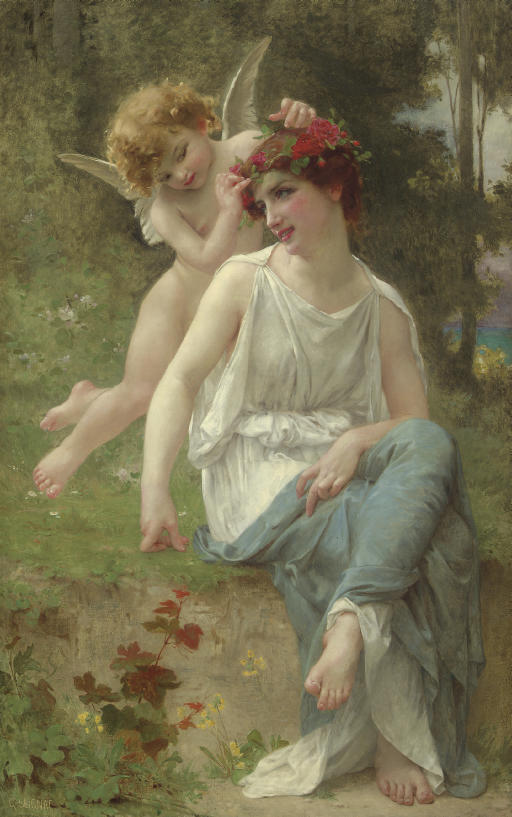 Cupid Adorning a Young Maiden