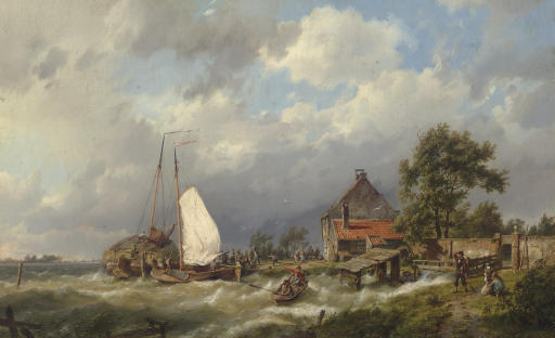 Boats Docking in an Estuary
